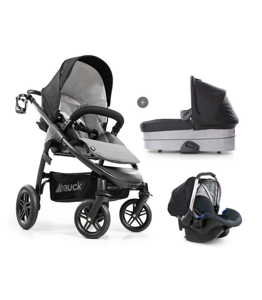 Stroller set 3 in 1 Saturn R Duo set Hauck Caviar Stone