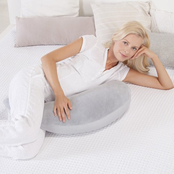 Pregnancy and Baby feeding Pillow Thermaline The Plushy Moon Silver Grey