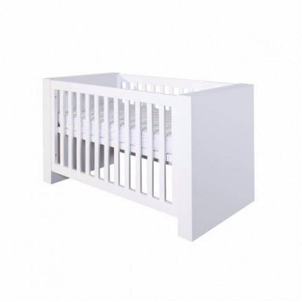Cot bed Somero Matt White BebeJou 60 x 120