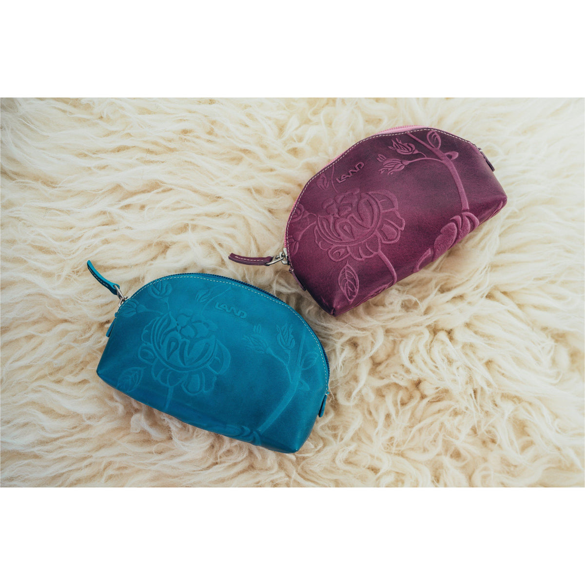 Magnolia Zippered Cosmetic Pouch