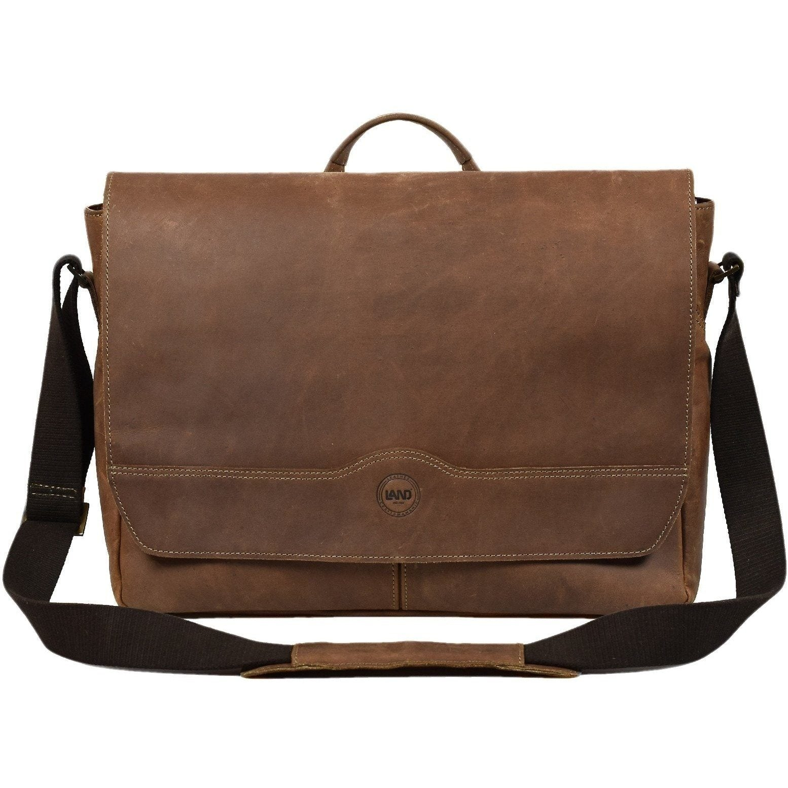 Terra Logan Messenger, Crossover Bag | LAND Leather