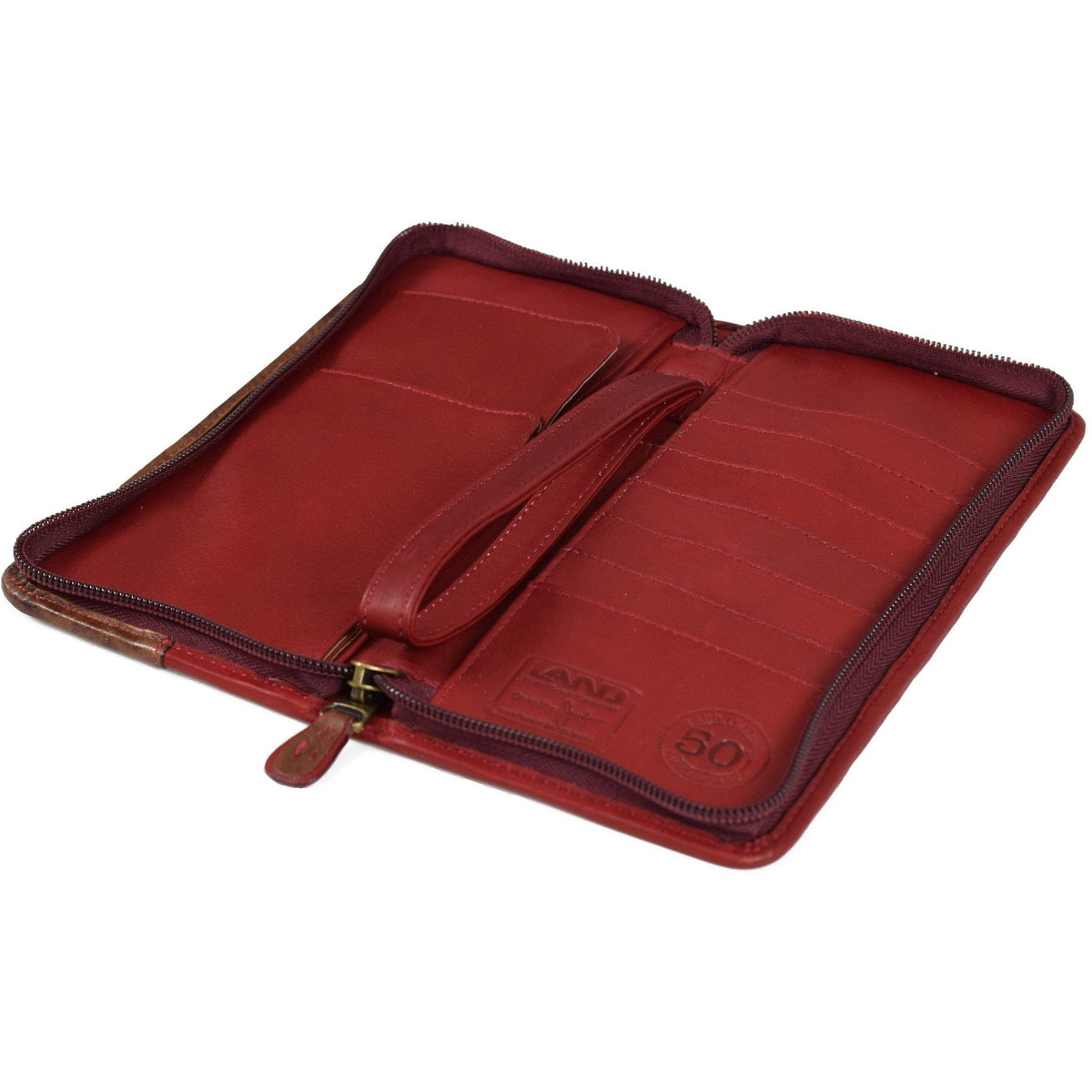 Anniversary Zip Around Travel Organizer, Travel Organizer | LAND Leather
