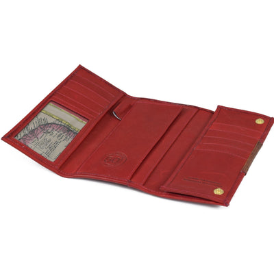 Anniversary Ladies Checkbook Organizer, Wallet | LAND Leather