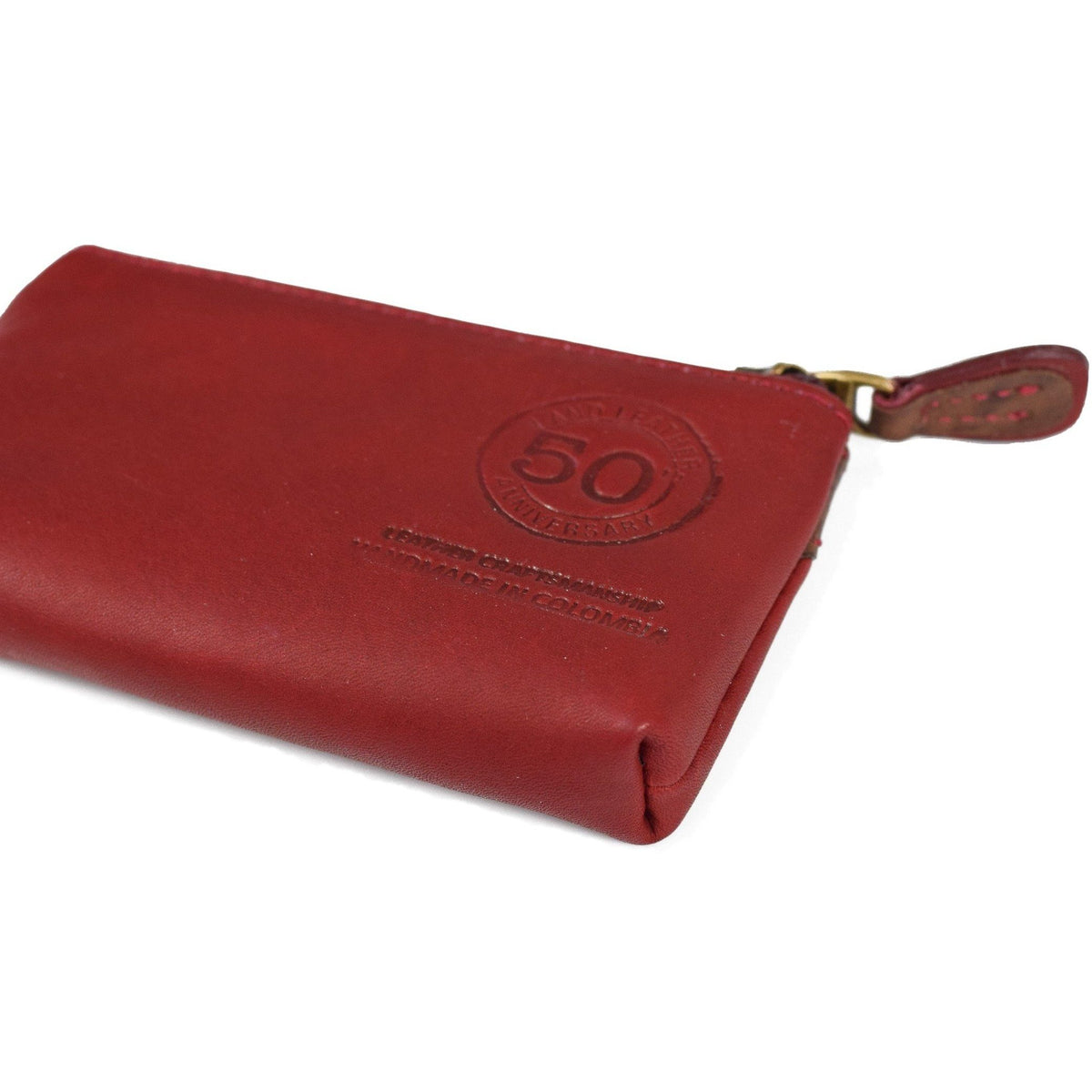 Anniversary Zippered Coin Case, Wallet | LAND Leather