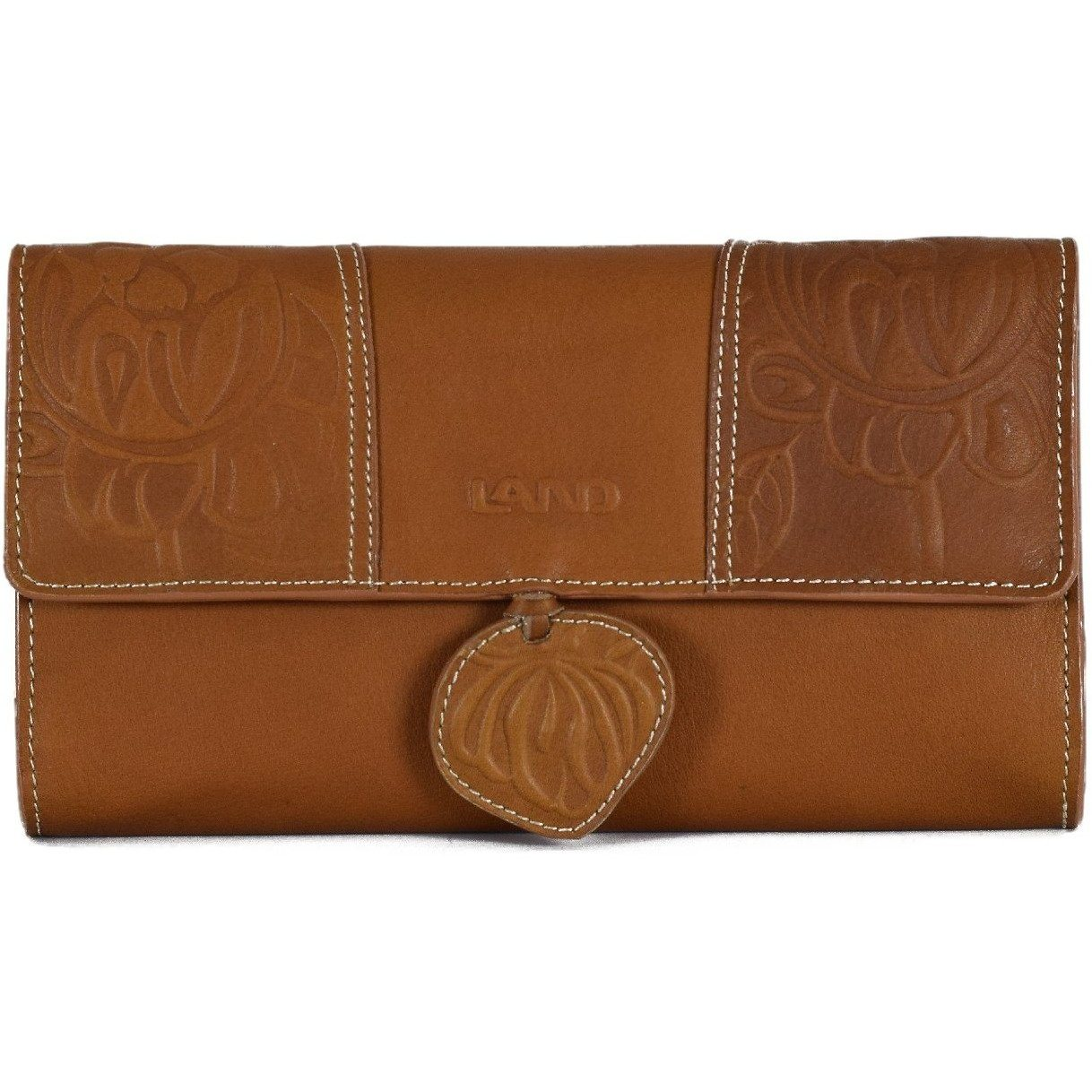 Magnolia Tri-fold Wallet, Wallet | LAND Leather