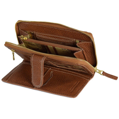 Bisenzio Melissa Zip Around, Wallet | LAND Leather