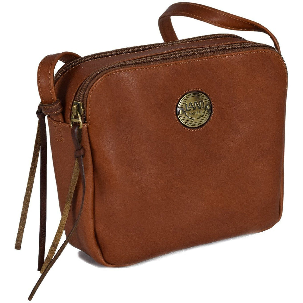 Santa Fe Siena Crossbody, Crossover Bag | LAND Leather