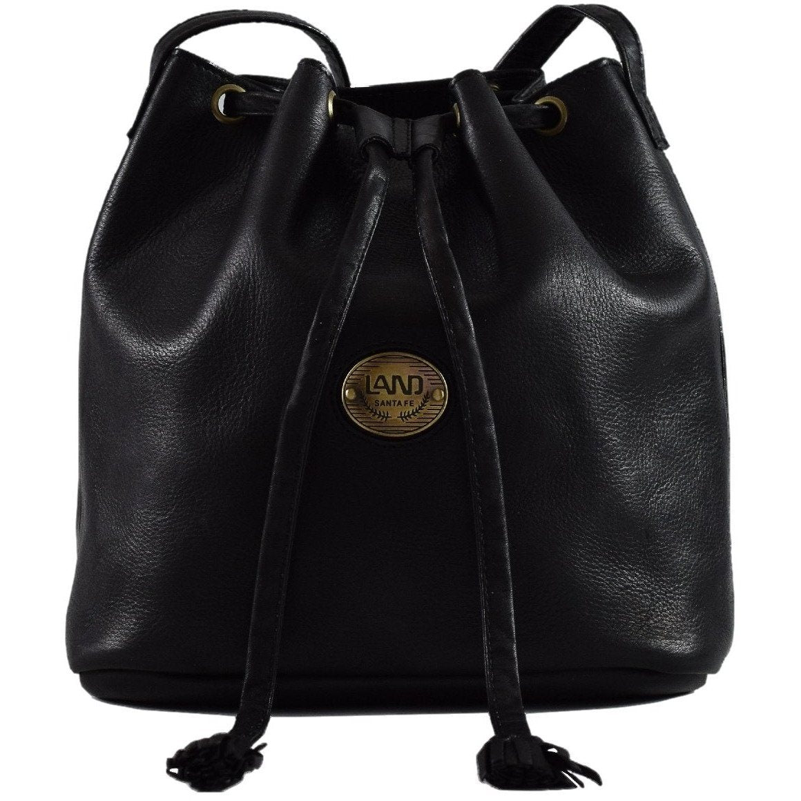 Santa Fe Gracie Drawstring, Crossover Bag | LAND Leather