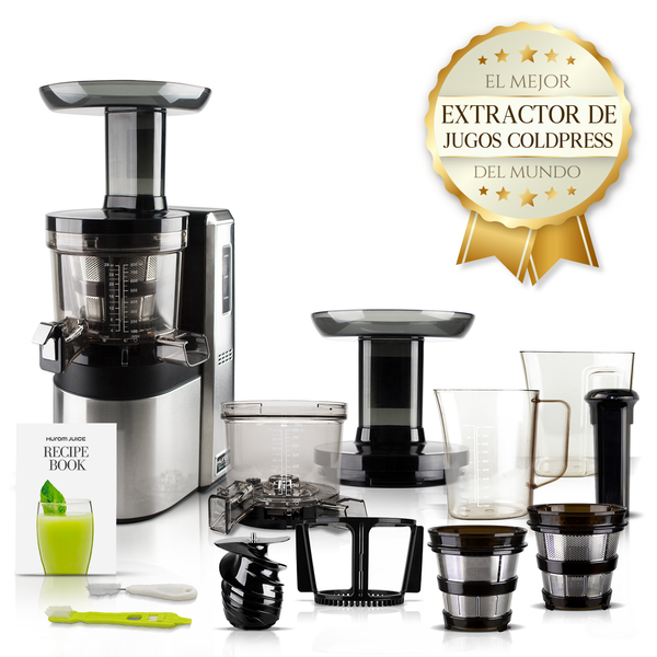 Hurom HW, el mejor extractor de jugos cold press del mundo. Extractor de jugos industrial