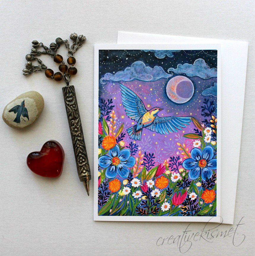 Moon Dance - 5x7 Art Card with Envelope