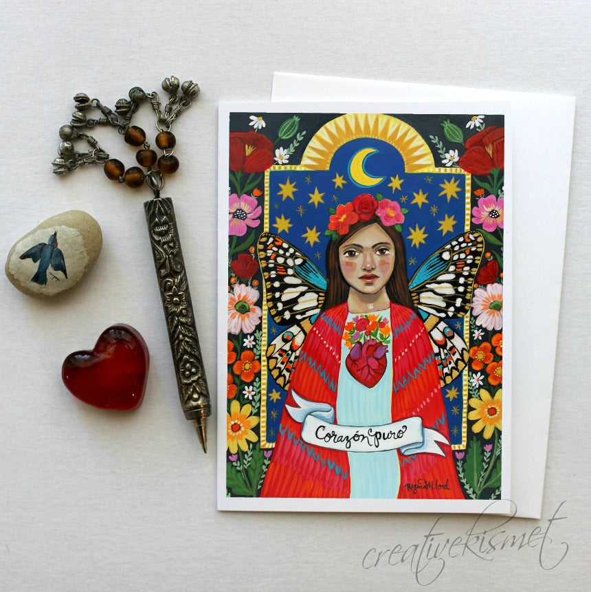 Corazon Puro - 5x7 Art Card with Envelope