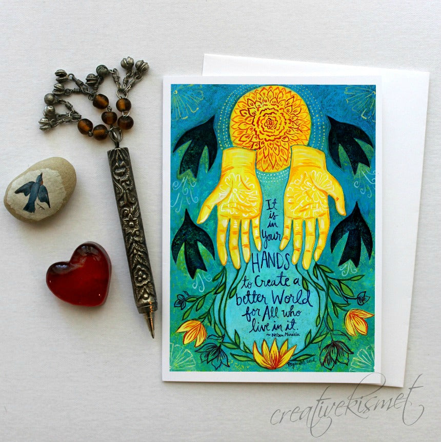 It is in Your Hands - 5x7 Art Card with Envelope