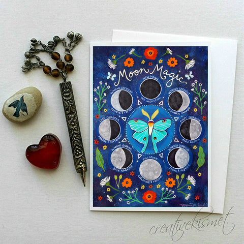 Moon Magic - 5x7 Art Card with Envelope