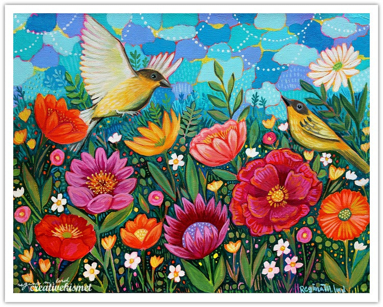 Joyous Birds - Art Print