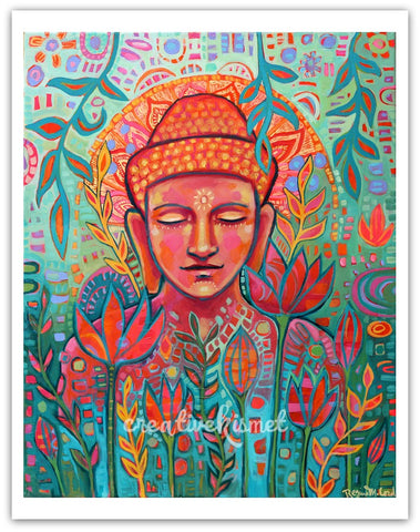 Buddha in Bloom - Art Print