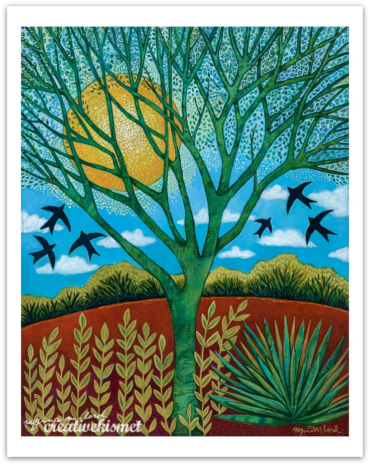 Sun Celebration - Palo Verde Tree -  Art Print