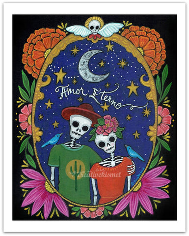 Day of the Dead - Amor Eterno - Art Print