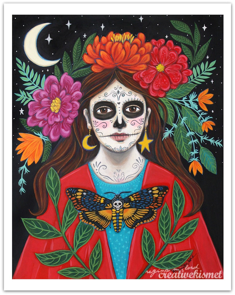 Day of the Dead - Under the Crescent Moon - Art Print
