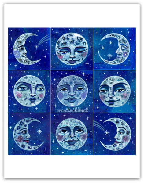 Many Moons - Art Print