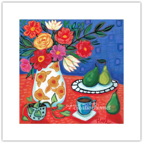 Still Life with Pears no.2 - 8x8 Art Print