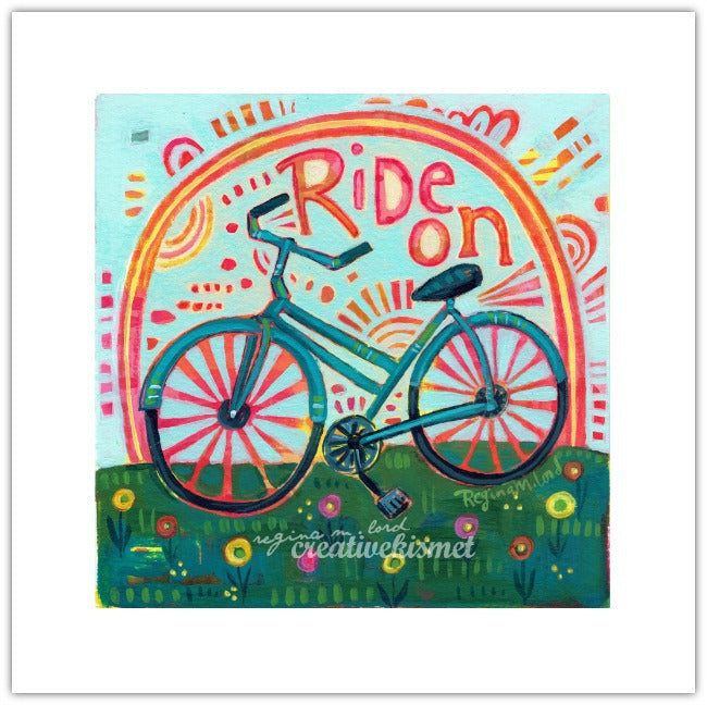 Ride On - 8x8 Art Print