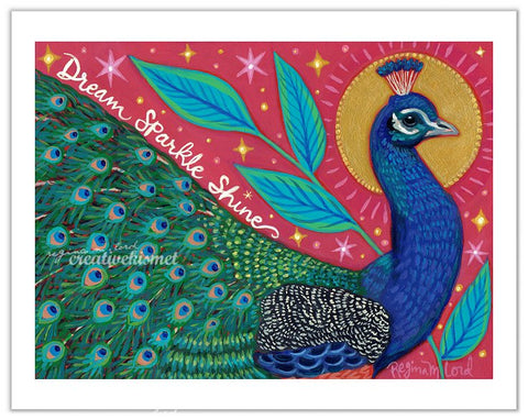 Dreamy Peacock - Art Print