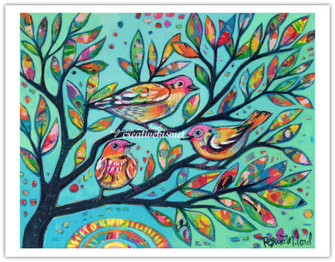 Birds in Branches - Art Print