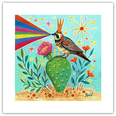 Happy Lark - 8x8 Art Print