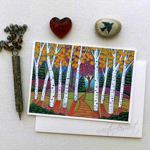 Aspen Trail - 5x7 Art Card with Envelope