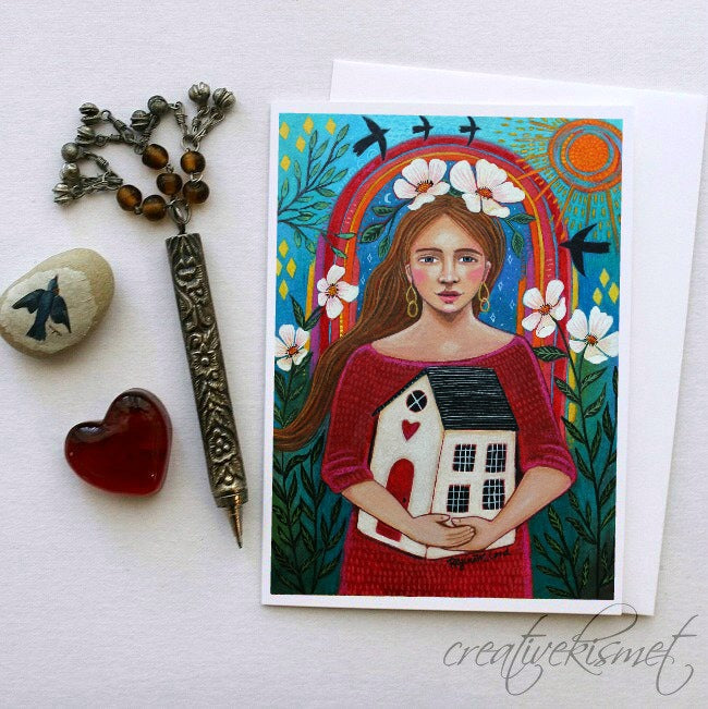 Embrace Your Inner Homebody - 5x7 Art Card with Envelope