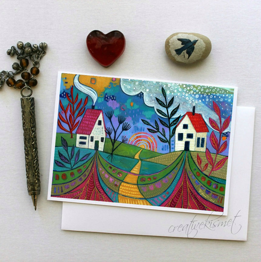 Connected - 5x7 Art Card with Envelope