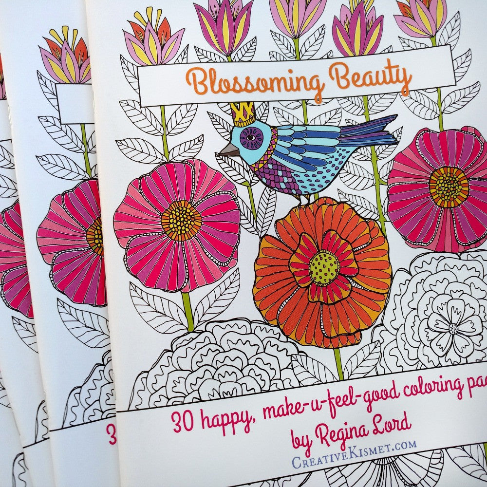 Blossoming Beauty Coloring Book – Creative Kismet