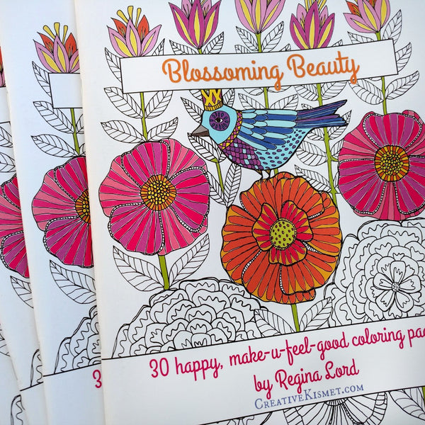 Blossoming Beauty Coloring Book
