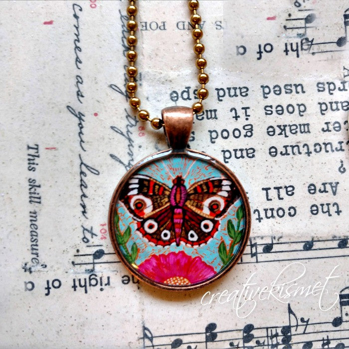 Emerging Butterfly  -  Art Pendant Necklace