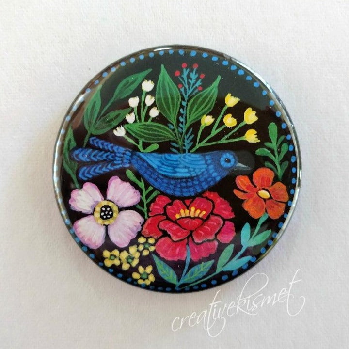 Blue Bird - Pocket Mirror