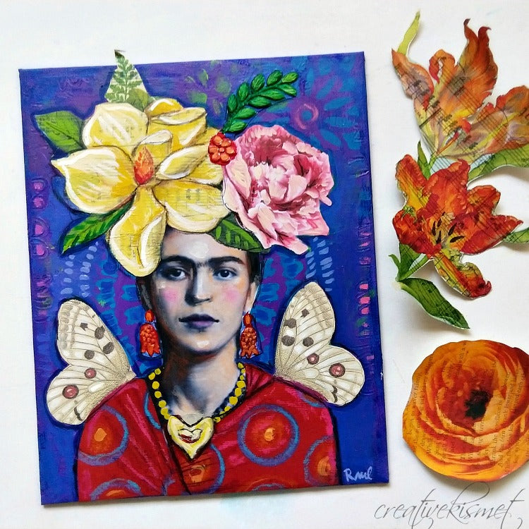 Sunday, August 12 - Ode to Frida Kahlo Art Collage - In Person Workshop