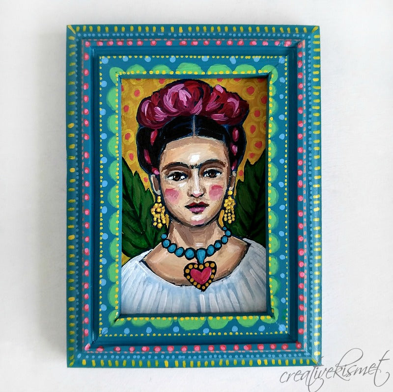 Mini Framed Frida - Original Art by Regina Lord
