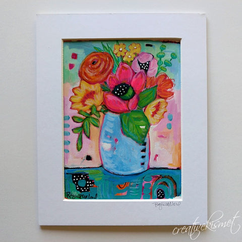 Flower Study No.  3 - Matted Original Painting