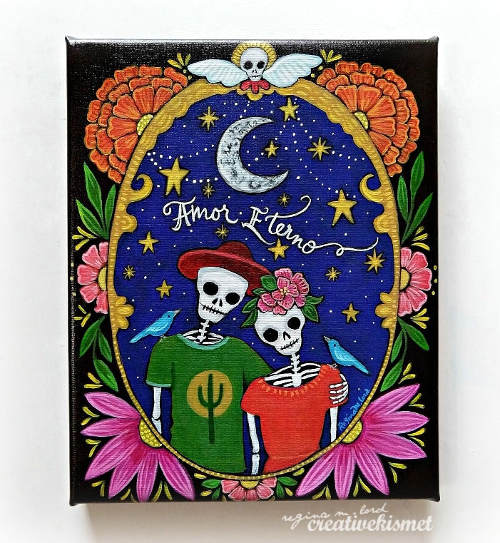 Day of the Dead - Amor Eterno - Canvas Art Print