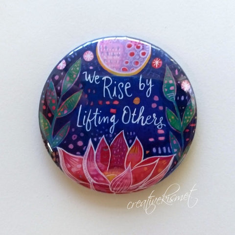 We Rise - Lotus Moon - Pocket Mirror