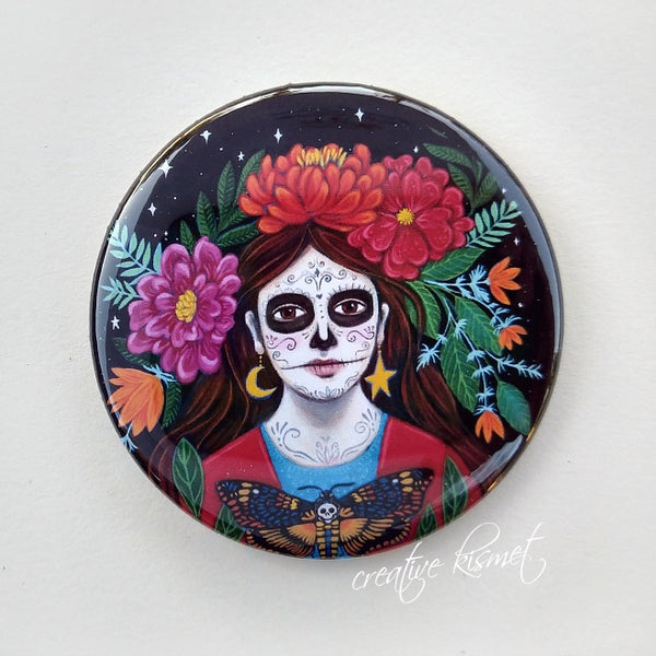Day of the Dead - Under the Crescent Moon - Pocket Mirror