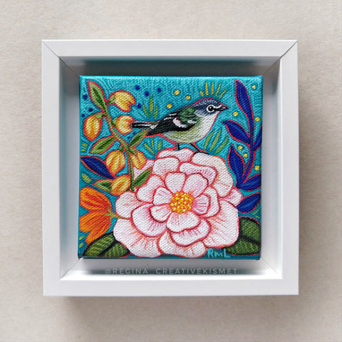 Bird and Blooms no. 9 - Original Art
