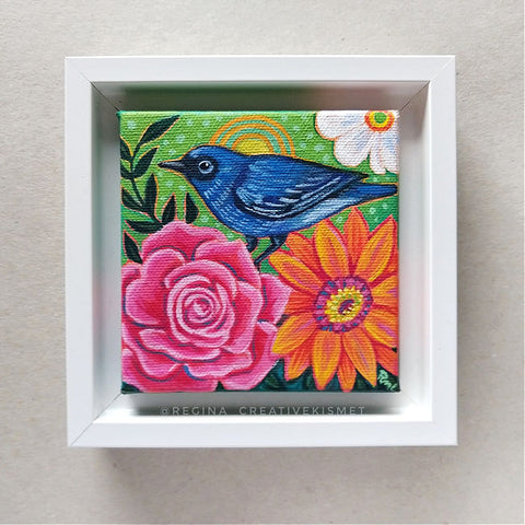 Bird and Blooms no. 10 - Original Art