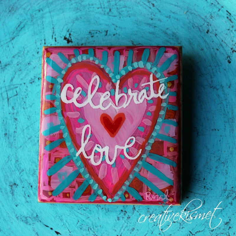 Love Messages - Celebrate Love - mini art