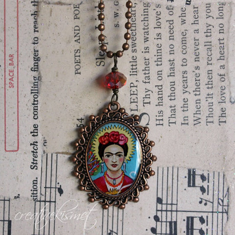 Frida -  Art Pendant Necklace