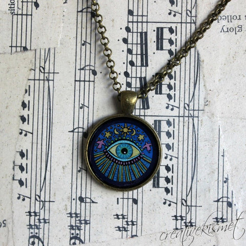 Illuminating Eye  -  Art Pendant Necklace