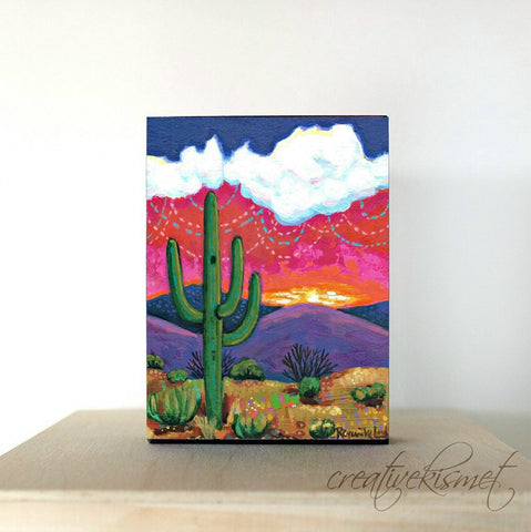 Saguaro Sunset - Art Block