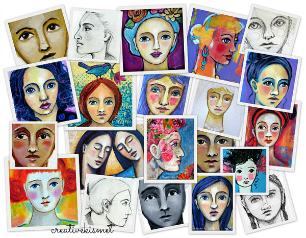 Expressions in Mixed Media Portrait Painting E-course