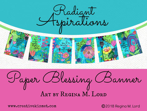 Paper Blessings Banner - Radiant Aspirations
