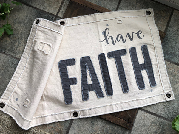 Canvas Wall Banner - Faith